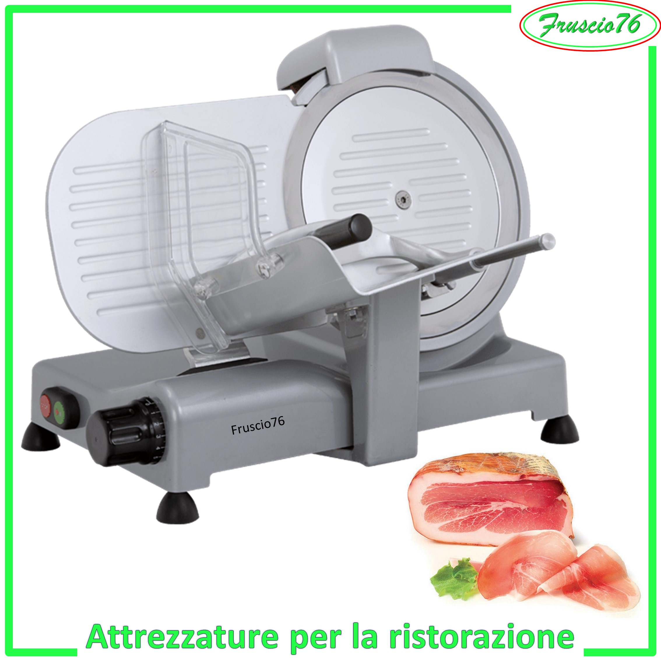 AFFETTATRICE RGV 25 LUSSO LAMA 250 SALUMIERE PROFESSIONALE MADE IN ITALY